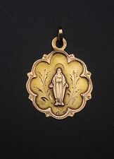 Ancienne médaille religieuse pendentif or 18K  Vierge XIXeme