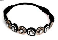 Bandeau Headband strass et petites perles Accessoire de cheveux Mode