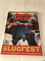 1991 Sports Illustrated GEORGE FOREMAN vs EVANDER HOLYFIELD No Label NEWSSTAND