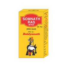 SOMNATH RAS VRIHAT TABLETS  BAIDYANATH FREE SHIPPING