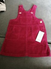 BNWT Red/brugandy  cord Pinafore Dress Age 12-18 Months