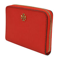 NWT Tory Burch Emerson Zip Coin Case Wallet Brilliant Red