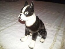 Vintage Porcelain Boston Terrier Dog Figurine - Japan