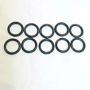 """Vintage Lot of 10 Rustic Black Metal Curtain Rod Rings Crafts 1.75"""""""