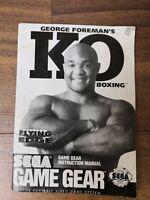 SEGA Game Gear George Foreman's KO Boxing Instruction Manual