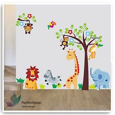 Monkey/Giraffe/Elephant Kid Nursery Baby Boy Room Wall Sticker Decal Decor Art