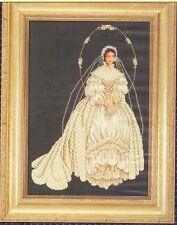 "Lavender & Lace Cross Stitch Chart Only ""I Thee Wed"""