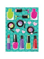 4 Sheets Girly Girl Spa Makeup Stickers Party Favor Teacher Supply Hearts