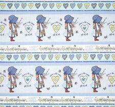 "SPX Fabrics Holly Hobbie Collection Shelf Stripe Cotton Fabric Yardage 44"" W  I4"