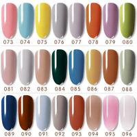 Mini UV LED Nail Gel Polish Soak off Varnish Base Top Colour Coat 8ml SUMMER