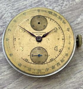 Vintage Men's Chronograph Suisse Movement! Spares/Repairs!
