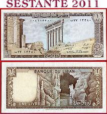 (com) LEBANON  -  1 LIVRE 1973  -   P 61b  - VF++