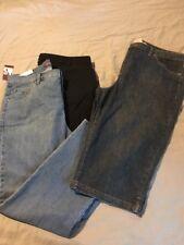Womens Plus Size Pants Lot Capri,Jeans,Black Vanderbilt, Amanda,Dress 16 W