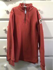 Mini Boden Boys 9/10 Pullover Sweatshirt 1/4 Zip Neck