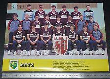 CLIPPING POSTER FOOTBALL 1985-1986 FC METZ LORRAINE GRENATS SAINT-SYMPHORIEN