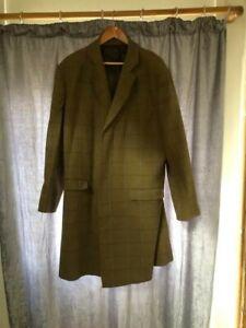 samuel windsor tweed long coat 44 chest tweed green