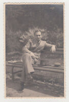 Affectionate Handsome Young Man Cute Face Guy Gay Int Gentleman 1930s Old Photo