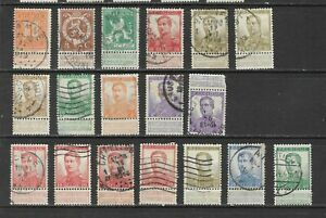 Belgium - 1912-14 King Albert used collection with labels