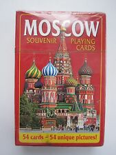 Playing Cards Moscow Russia  with 54 Unique Pictures