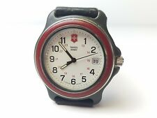 Vintage Victorinox Swiss Army Mens Watch 24 hour date with band