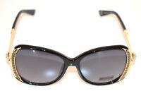 Lunettes de soleil femme noir dorè cristaux lentilles Sun glasses ochelari G8