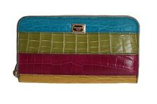NEW $2100 DOLCE & GABBANA Wallet Caiman Alligator Skin Leather Continental Bag