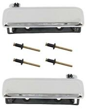 1979-93 FORD MUSTANG OUTER DOOR HANDLES CHROME w/Rivets $WINTER FOX LOVER SALE!