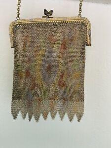 Vintage 1920/30/40  Purse Handbag Whiting And Davis Flappers Art Deco