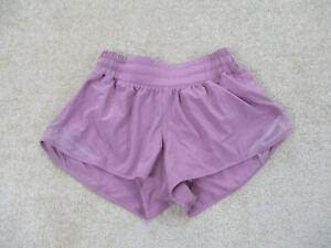 Lululemon Hotty Hot Shorts Womens Size 2 Pink Workout Running Runner Ladies