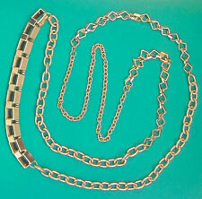 "Robert Rose Mixed Metal Gold-tone 48"" Rolo Chain Necklace +B. Brilliant Earrings"