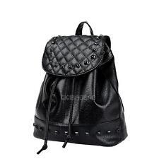 Korean Style Women PU Leather Casual Backpack Rivet Travel Bag School Bag #gib