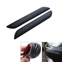 2x Black Car Rubber Bumper Corner Protector Door Guard Cover Lip Crash Bar Trim