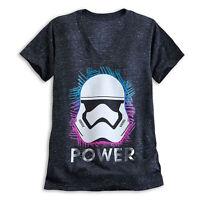 Disney Store Star Wars Stormtrooper Art V Neck Womens T Shirt Size XS S 2XL NWT
