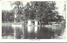 Fremont Indiana~Mergel Cottage~Girls in Boathouse~Lake Front~1928 B&W Blue Sky
