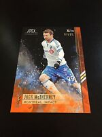 Jack McInerney 07/25 Orange Parallel 2015 Topps Apex MLS Major League Soccer #49