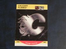 1990-91 90/91 Pro Set Series 2 #568 Calgary Flames Team Facts