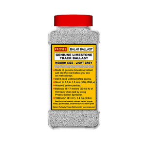 Proses BAL-01 HO/OO Gauge 1.4kg (3Lbs) Authentic Limestone Ballast (Light Grey)