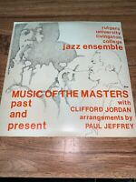 "Music of the Masters Past and Present w/ Clifford Jordan 12"" 33rpm RJE Vinyl"