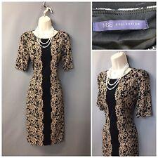 M&S Collection Camel Mix Dress UK 12 EUR 40 Stretchy