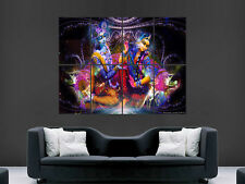 RADHA KRISHNA RELIGION GOD  ART  IMAGE  LARGE WALL POSTER PICTURE