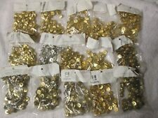 1080 Vintage Gold Tone Metal Button Silver Color Size 24, New Lot 9
