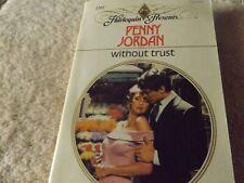 Harlequin Present Without Trust Penny Jordan #1201 Paperback Romance 1989