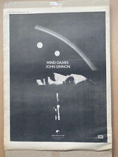 More details for john lennon mind games (a) poster sized original music press advert from 1973 -