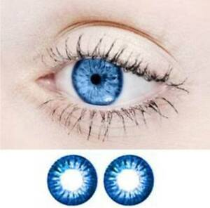 blue charming  New Safe Design Case Color Contacts One Pair Best Quality Bright