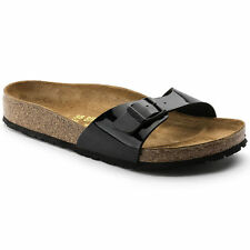 BIRKENSTOCK MADRID Sandale Pantolette black patent / schwarz Lack - 0040303 - 38