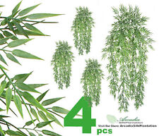 "4 Artificial 33"" Bamboo Bush IN Outdoor plant Decor Patio Aquarium Floral 712"