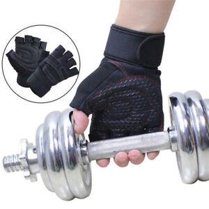 1Pair Half Finger Support Wrap Weightlifting Gloves Wrist Straps Gloves YO