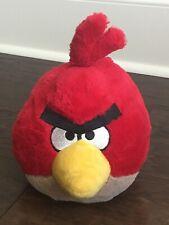 "Angry Birds Red Bird Plush Stuffed 8""  No Sound"