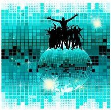 Bola de discoteca-Cool iluminada LED montado en la pared de tela impresión