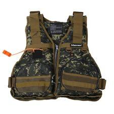 2X(MANNER Multi Outdoor Angeln Weste Camouflage Weste Jacke Schwimmweste G5L4)